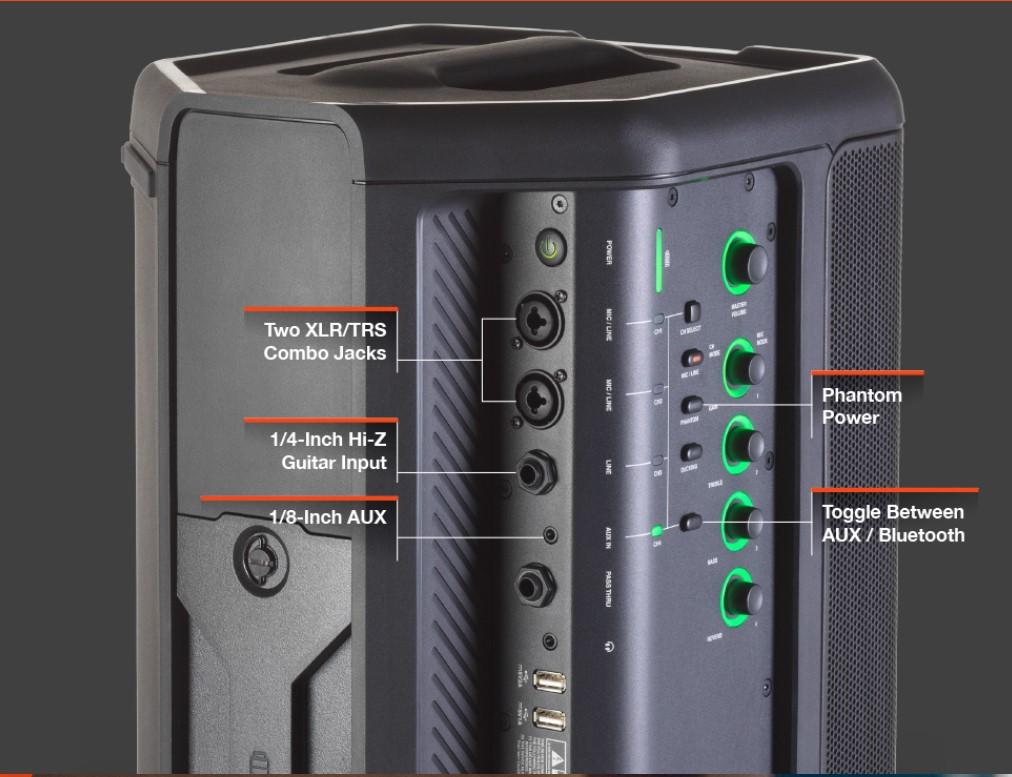 Loa di động JBL Eon One Compact có kết nối đa dạng