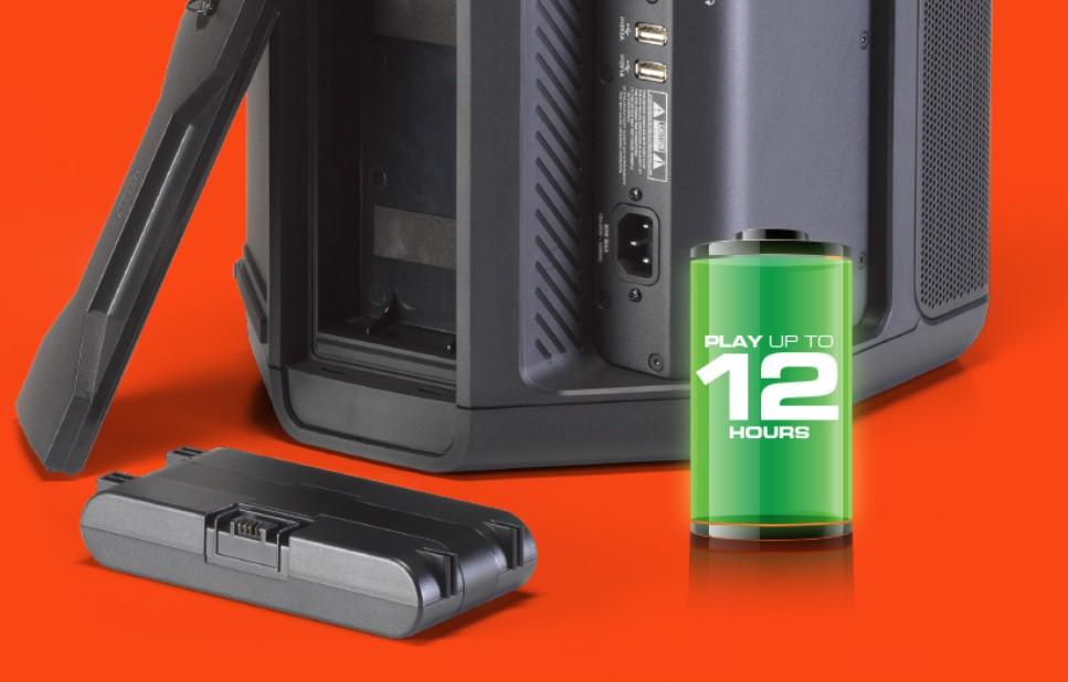 Loa di động JBL Eon One Compact có thời lượng pin ấn tượng