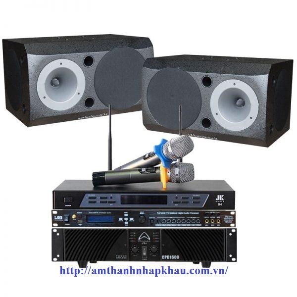 Dàn karaoke gia đình GD55 (Wharfedale 1132, CPD1600, TF6 Pro, B4)