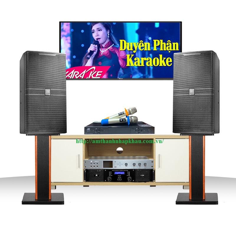 Dàn Karaoke JBL Cao Cấp GD47 (JBL KP6010 + Cục đẩy JK H2600 + Micro JK B5 Plus + Vang số JK X6000)
