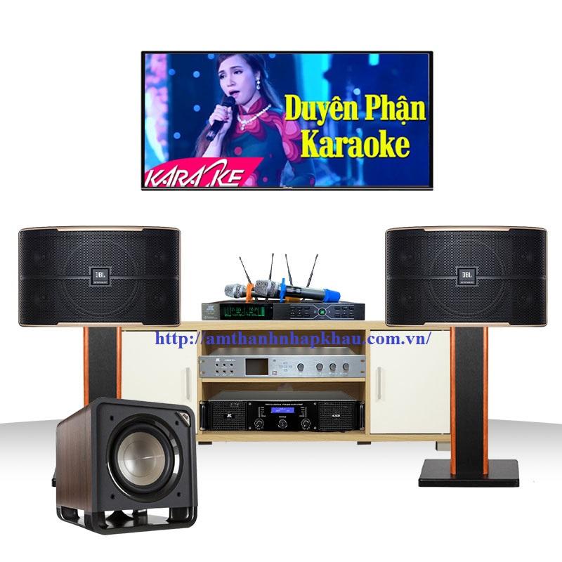 Dàn Karaoke JBL gia đình  GD51 (JBL Pasion 10, JKAudio H2400, Jkaudio X6000 pro, B3 Plus, HTS10)