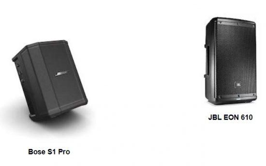 So sánh loa Bose S1 Pro và JBL Eon 610
