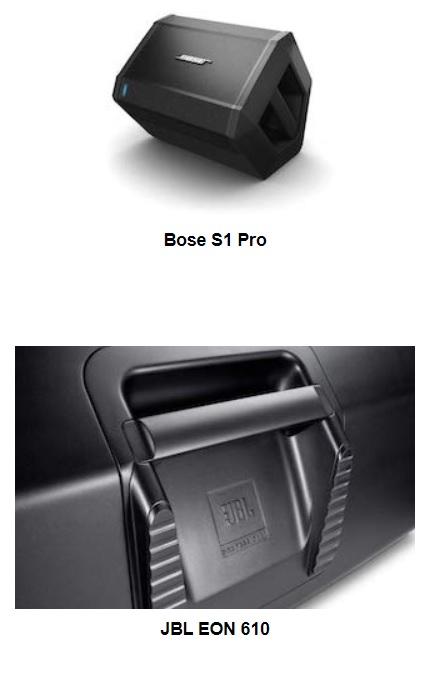 Thiết kế bên ngoài của Bose s1 Pro và Eon 610